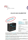 ETG Cal101 Economical Calibration Gas Instrument - Brochure