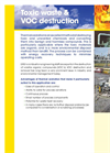 ERG - Toxic Waste & VOC Destruction Systems - Brochure