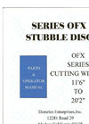 Model OFX - Wheel-Controlled Offset Stubble Manual