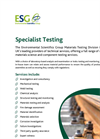 Specialist Testing Service Brochure