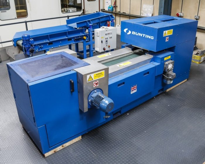 Bunting Eddy Current Separator built for the University of Birmingham