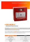 GFE - Model GFE-MCPC - Conventional Manual Call Point - Data Sheet