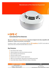 GFE - Model GFE-C Series - Conventional Fire Detectors - Data Sheet