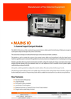 GFE - Model MAINS IO - 1 Channel Input/Output Module - Data Sheet