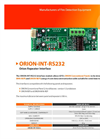 GFE - Model ORION-INT-RS-232 - Interface Module - Brochure