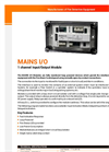 MAINS IO - 1 Channel Input/Output module - Data Sheet