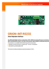 ORION-INT-RS-232 - datasheet
