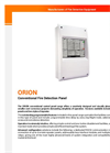 Orion - Conventional Control Panels Brochure