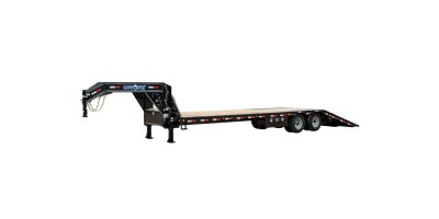 Model GL22 - Beam Frame Gooseneck Low-Pro w/Hyd Dove Tail Trailer