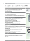 Model ILM - Inductive Conductivity Meter  - Brochure