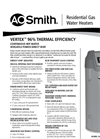 Vertex™ 100 Power Direct Vent Spec Sheet (AOSRG45102)