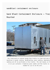 Sand Blast Containment Enclosure – Trailer Mounted Datasheet