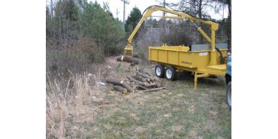 Dump Trailer With Hydraulic Grapple