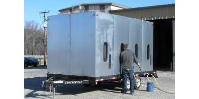 Sand Blast Containment Enclosure – Trailer Mounted