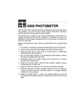 9500 Photometer Operations Manual