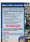 Heavy Duty Excavator Buckets Brochure