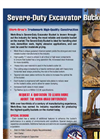 Severe Duty Excavator Bucket Brochure