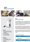 ZAP - Portable Room Air Purifier Specification Sheet