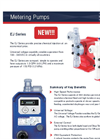 Walchem - Model EJ Series - Metering Pumps - Brochure