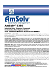 AmSolv - Model 9350 - Industrial Water Treatment Compound & Recirculating Water System Cleaner Brochure