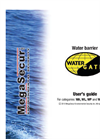 Water-Gate - Model WA, WL , WP and Water-Plug - Water Barrier - Manual