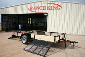Ranch King - Model WT Series  GVWR 2990 - Side Gate Single Axle Utility Trailer