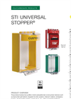 Universal Stopper - Model STI-13000NC - Indoor/Outdoor Polycarbonate Cover- Brochure