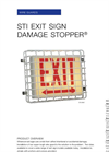 Model STI-9740 - Exit Sign Damage Stopper- Brochure