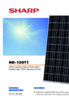 SHARP - Model NP-I20T1 - Multi-Crystalline Silicon Photovoltaic Module - Brochure