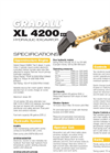 Gradall - Model XL 4200 V - Hydraulic Excavators Brochure