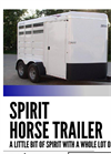 TravAlong - Spirit Horse Trailer - Brochure