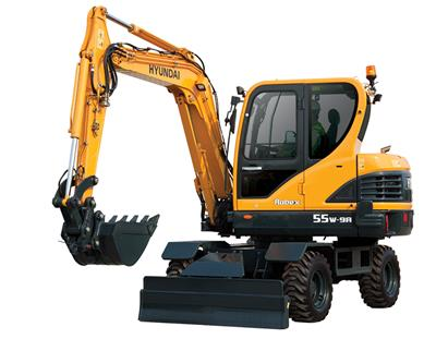 Hyundai Construction - Model R55W-9A - Wheeled Excavators