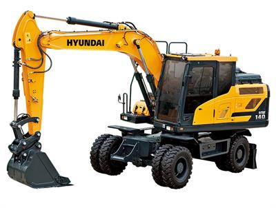 Hyundai Construction - Model HW140 - Wheeled Excavators