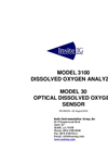 Model 3100 - Dissolved Oxygen Analyzer - Manual