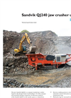 Sandvik - Model QI240 - Secondary Impact Crusher Brochure