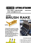 Kenco - Dozer Brush Rakes Brochure