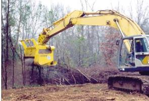 Sneller - Model 275 - Excavator Mounted Tree Grinde Shredder