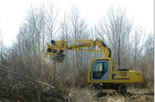 Sneller - Model 170 - Excavator Mounted Tree Grinde Shredder