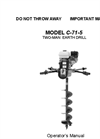 Model C-71-5 - Earthdrill - Brochure