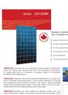 Model 230-260W - Monocrystalline Modules Brochure