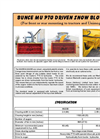 Bunce - Model MU - PTO Driven Snowblower - Brochure