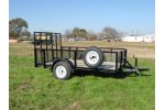 Single Axle w/ Raised Sides Trailer