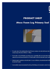 Ateco - Foam Log Primary Seal Datasheet
