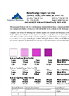 Water Nitrate Test Kit Data Sheet