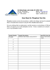 Data Sheet for Soil Phosphate Test Kits