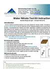 Water Nitrate Test Kit Instructions - Manual