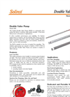 Solinst - Model 408 - Double Valve Pump - Datasheet