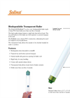Solinst - Model 428 BioBailer™ - Biodegradable Transparent Bailer - Data Sheets