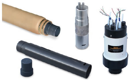 Standard Waterloo System components, including Packer, Port (Dual Stem), PVC Casing, PVC Base Plug, and Manifold.