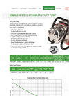 Stainless Steel Sprinkler Utility Pump Brochure